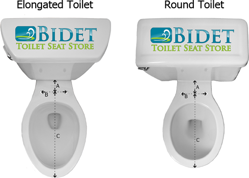 round toilet seat dimensions. Roubd Toilet and Elongated Will A Bidet Fit My